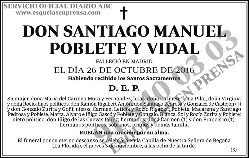 Santiago Manuel Poblete y Vidal